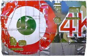 AVIAZIONE ITALIANA 150x100 casein on wood