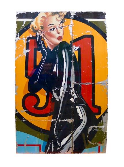 Clarisse, 80 x 122, mixed media on wood